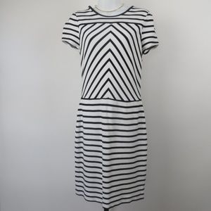Banana Republic striped size 8 below knee dress